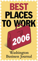 Best Places to Work 2006 - Washington Business Journal